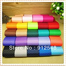 FunnyCraft 1 1/2 Inch Dots Polka Grosgrain Ribbon(Mix 24 Colors) The Tape For Sewing Diy Hair Accessories 24 Yards