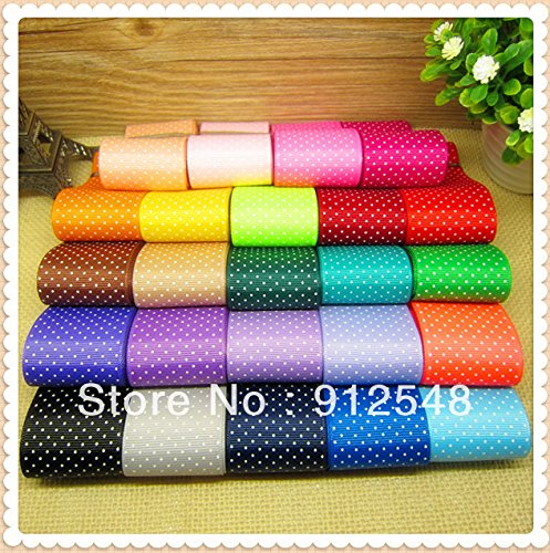 Funnycraft 1 1 2 Inch Dots Polka Grosgrain Ribbon Mix 24 Colors  The Tape For Sewing Diy Hair Accessories 24 Yards
