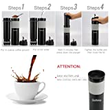 Portable French Press Coffee Maker With Tumbler Mug For Travel. Brew Perfect Coffee With Our Mini French Press Plunger (11.8 Oz). Great for Camping, Backpacking, Commuters and Your Office
