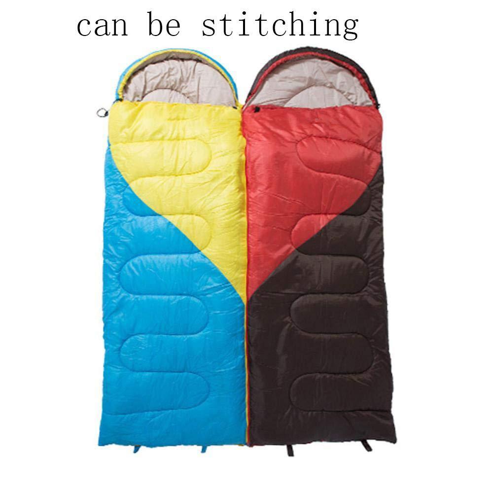 Sweety Schlafsack Block Farbe Outdoor Camping Schlafsack kann Sein gespleißten wasserdicht Feuchtigkeit Indoor Camping Schlafsack 220  75cm