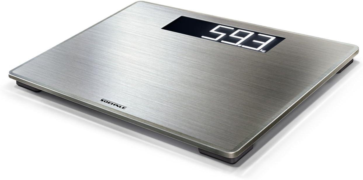 Soehnle Style Sense Safe 300 - Bascula de bano, color gris