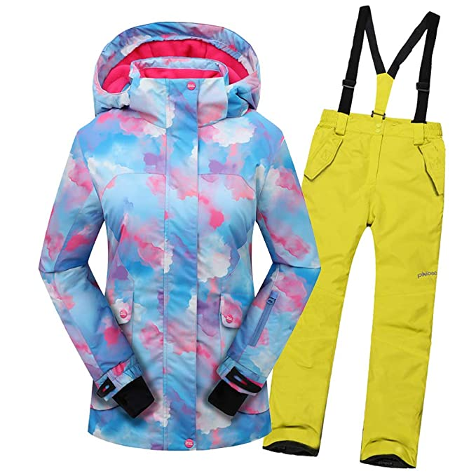 SXSHUN Niñas/Niños Traje de Esquí 5000mm Chaqueta ...