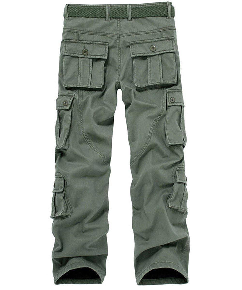 Cresay Mens Winter Fleece Lined Military Cargo Pants Casual Outdoor Pants