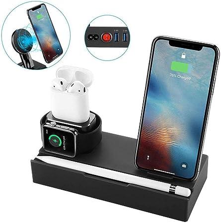 Cargador inalámbrico Universal para móvil y Soporte de Reloj Apple ...