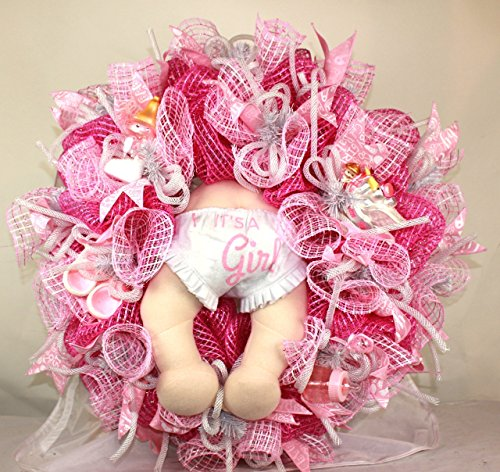 It's a Girl Wreath, Baby Girl Wreath, New Born Wreath, New Baby Wreath, Baby Shower Decor, Baby Shower Gift, New Mom, New (New Baby Girl Arrangement)