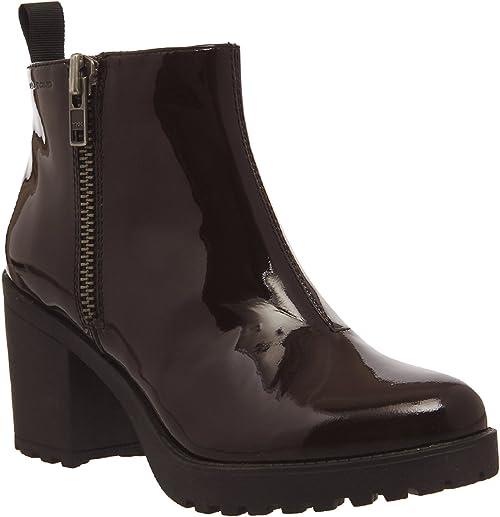 Vagabond Grace Side Zip Boots Bordeaux