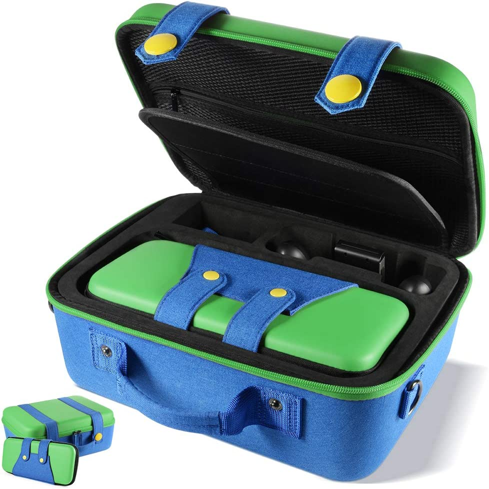 XCSOURCE Carrying Storage Case Compatible with Nintendo Switch System,Cute and Deluxe,Protective Hard Shell Carry Bag for Nintendo Switch Console and Accessories(Green): Home & Kitchen