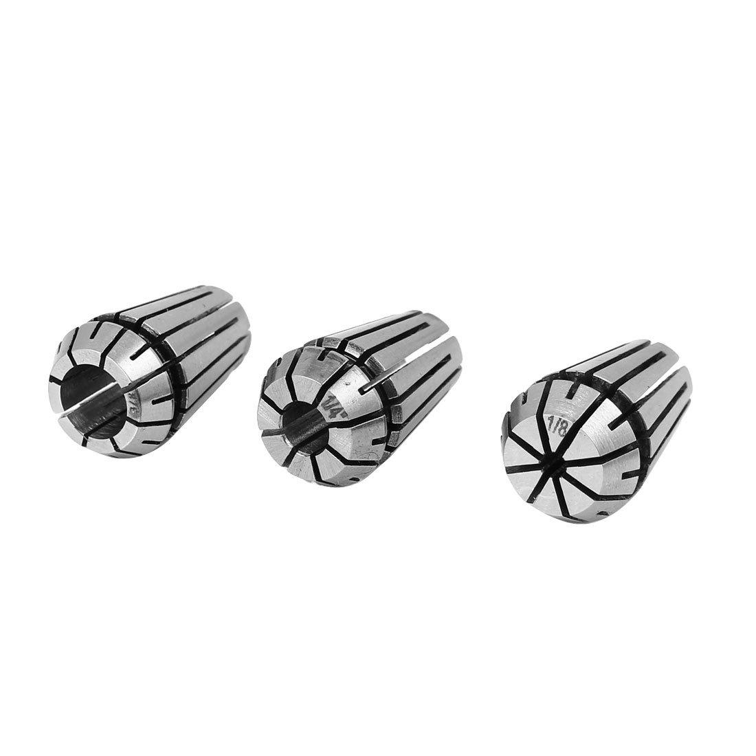 uxcell ER16 Lathe Milling Engraving Machine 65 Manganese Steel Spring Collet Set 3 in 1