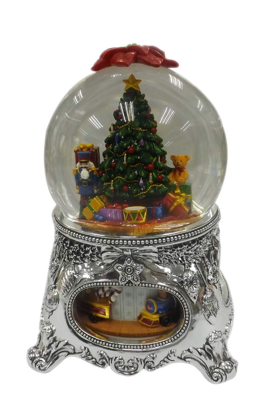 【残りわずか】 MusicBox Kingdom MusicBox Kingdom 56055クリスマスツリースノーグローブオルゴール、