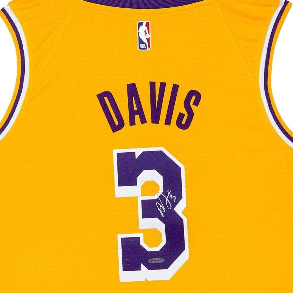 Anthony Davis Signed Autographed Nike Swingman Jersey Lakers Gold ...