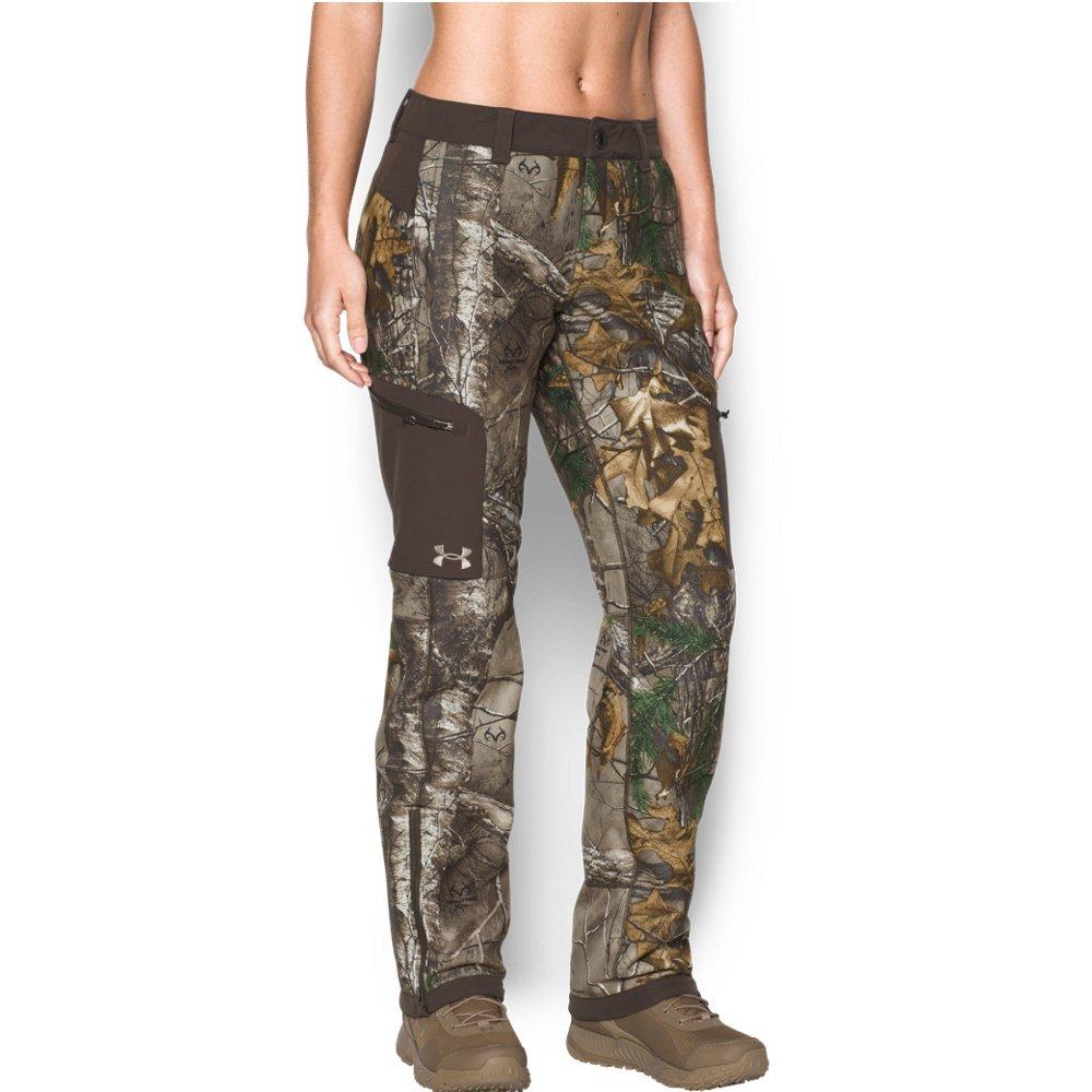 Under Armour Women's Super Fleece Mid Season Pants, Realtree Ap-Xtra/Maverick Brown, Medium