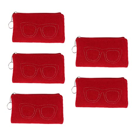 D DOLITY 5 piezas de Cajas para Guardar Gafas de Sol Lectura ...