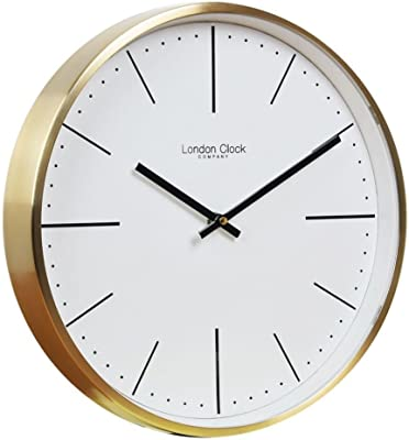 London Clock Co 30 cm Gold Case Wall Clock