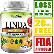 LINDA - Weight Loss Pills for Women & Men - Herbal Diet Supplements - Natural Appetite Suppressant that work fast - Best diet pills 90 pills