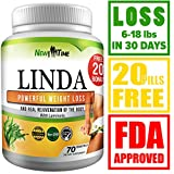 LINDA - Weight Loss Pills for Women & Men - Herbal Diet Supplements - Natural Appetite Suppressant that work fast - Best diet pills 90 pills