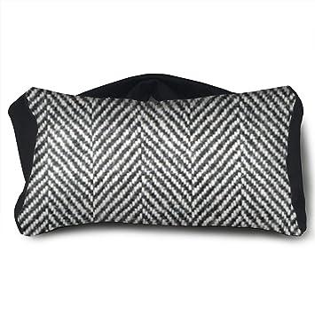 Amazon.com: SUNNMOON Herringbone Tweed - Cojín de viaje con ...