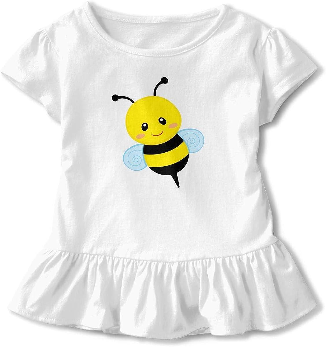 Cute Bumblebee Baby Flounces Skirts Toddler Cute T Shirt Dress Comfort Clothes