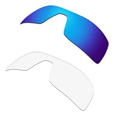0306929d38 Image Unavailable. Image not available for. Color  HKUCO Plus Replacement  Lenses For Oakley Oil Rig Sunglasses Blue Transparent Polarized