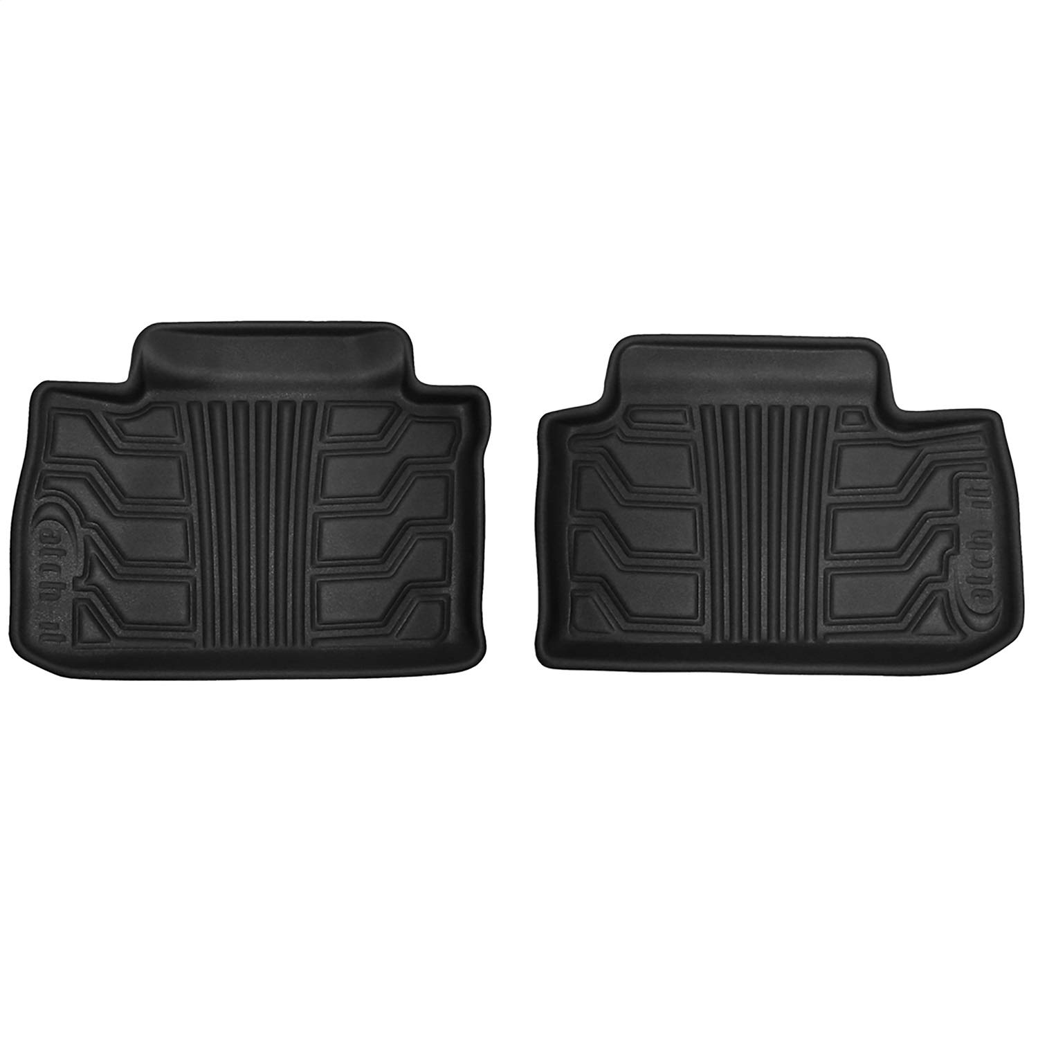 Lund 383144-B Catch-It Black Vinyl Rear Floormats for 2018 Jeep Wrangler JL 4-Door