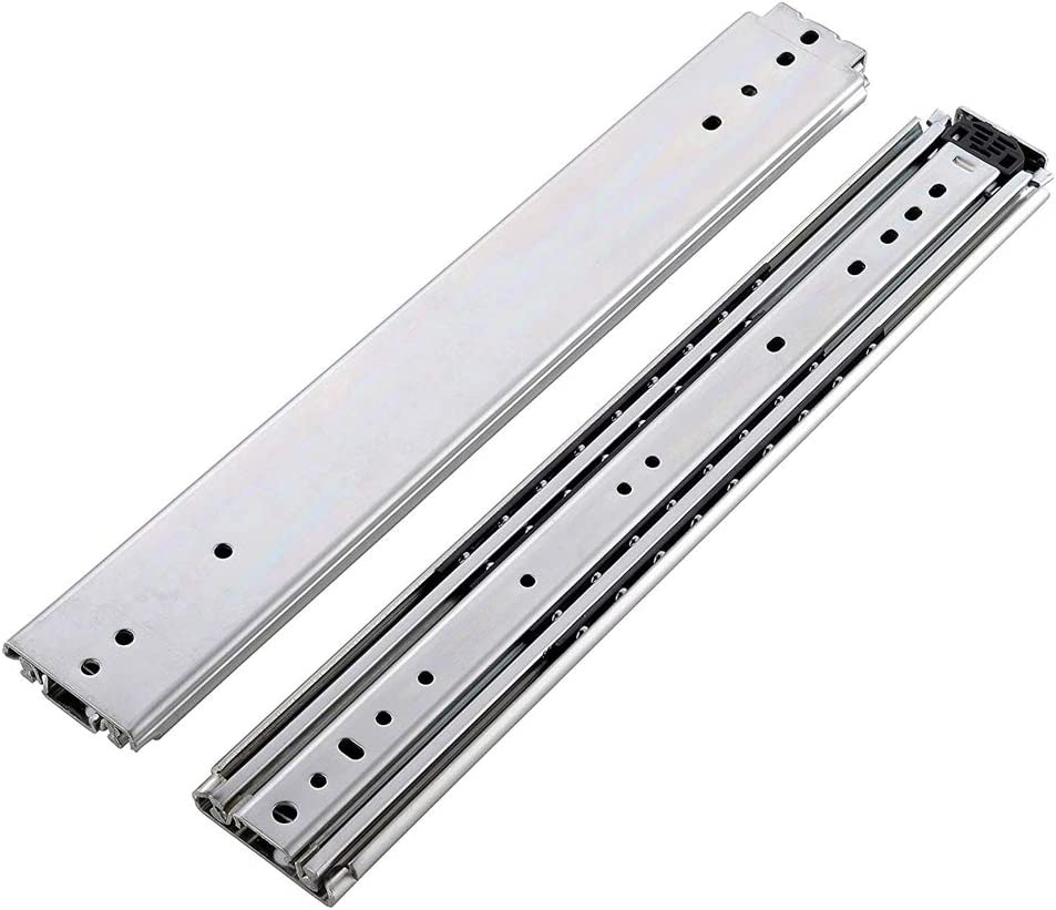 2-1//16 Wide Steel Pair of 36 Full Extension Ball Bearing Side Mount 500 lb Heavy Duty Drawer Slides