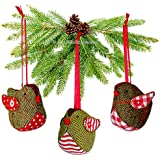 6 X Fabric Christmas Tree Decorations Ornaments Handmade Easy Sewing