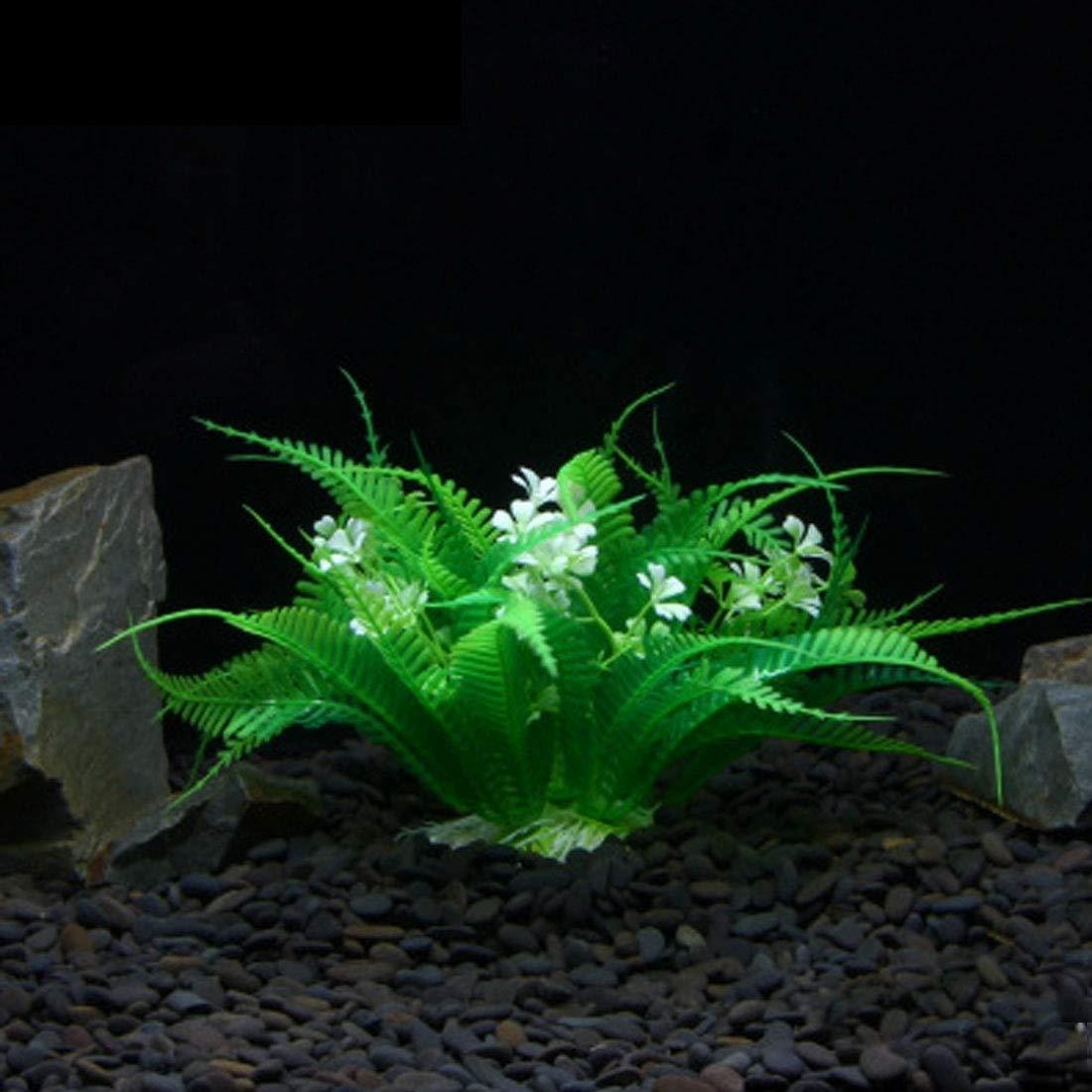 Perfect Home Artificial Tree Plant Grass Refinement Figurines Miniatures Aquarium Fish Tank Landscape, Size  25.0 x 18.0cm Durable