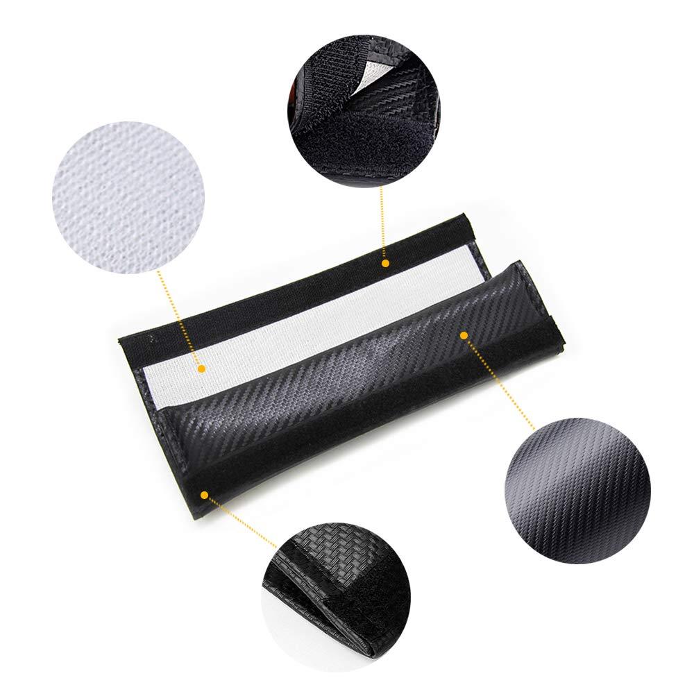 for Nissan Pathfinder Car Seat Belt Shoulder Strap Protect Pads Cover No Slip No Rubbing Soft Comfort 2Pcs Blue