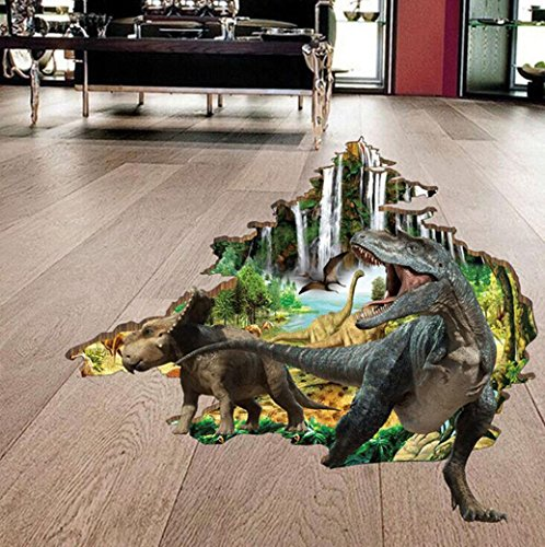 Cheap Sinohomie 3D Dinosaur Stickers Decorative Creative Wall Stickers For Kids Room Bedroom (Multicolor)