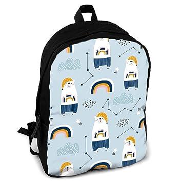 Amazon.com: Mochila escolar con diseño de oso en pijamas y ...