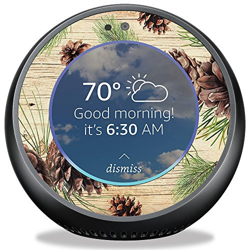 MightySkins Skin For Amazon Echo Spot - Pine Collage | Protective, Durable, and Unique Vinyl Decal wrap cover | Easy To Apply, Remove, and Change Styles | Made in the USA