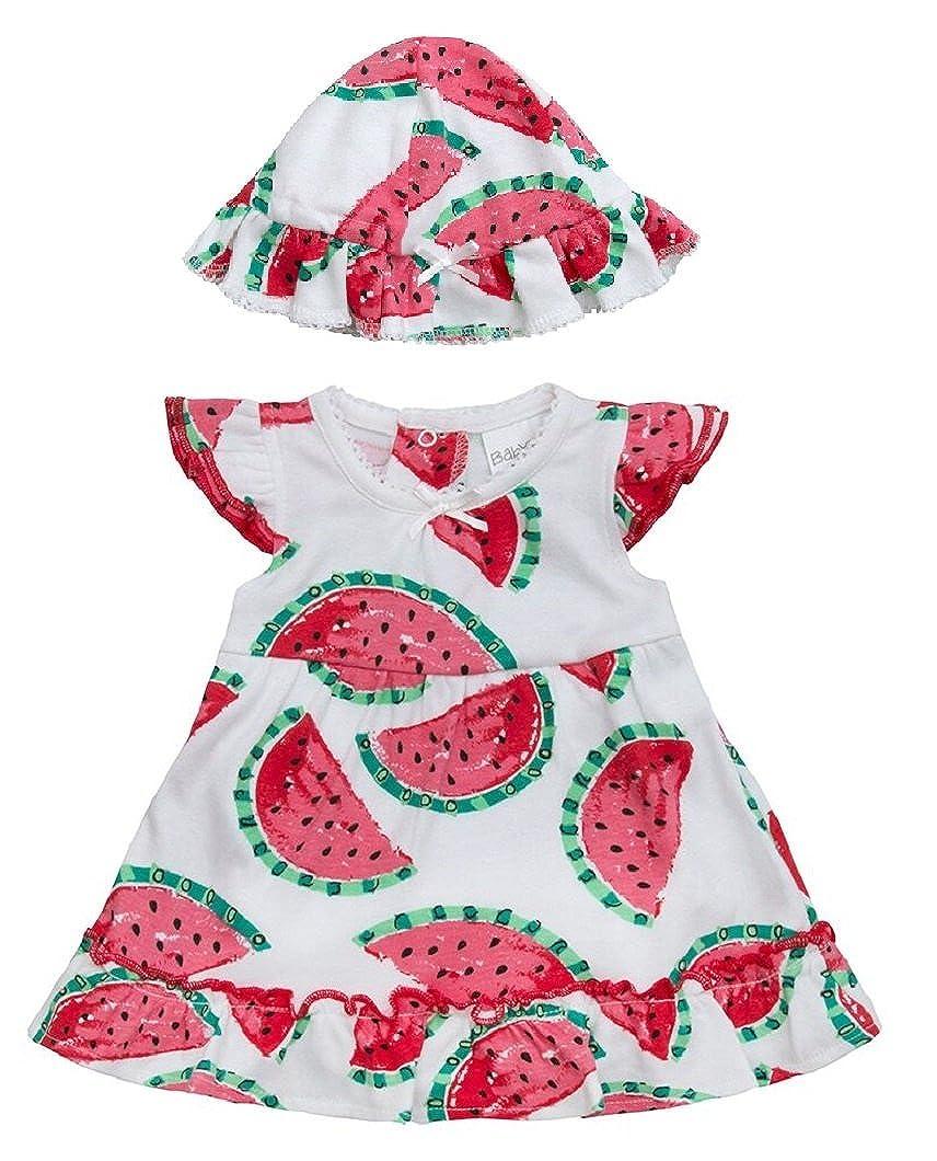 Baby Girls Romper Dress and Hat Set ~ Watermelon Designs ~ Newborn to 12 Months