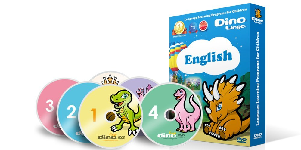 English for Kids - Learning English for Children Standard DVD Set (6 DVDs), English flashcards (150 cards)