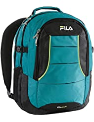 Fila Anchor Laptop with Tablet Sleeve Backpack, Teal, One Size