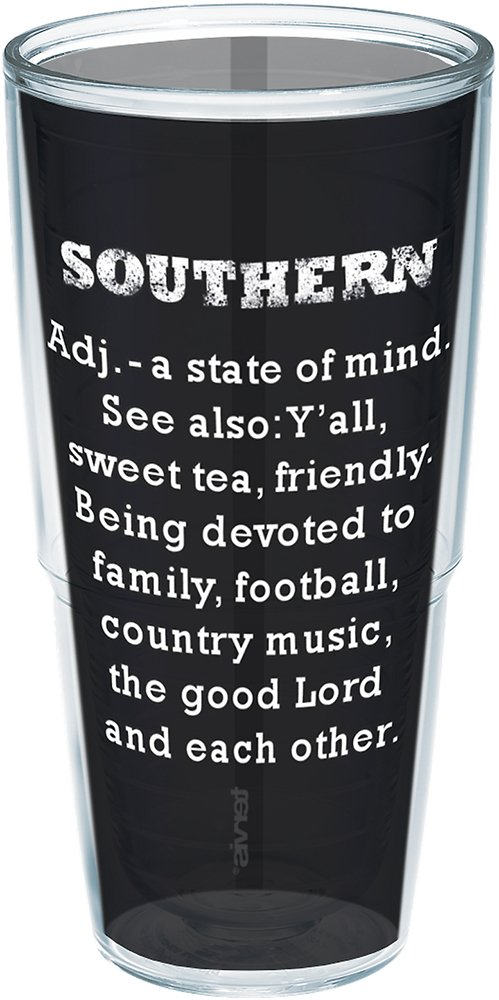 Tervis 1199501 Definition of Southern Insulated Tumbler with Wrap, 24 oz, Clear