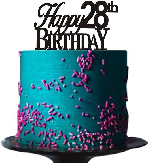 Swell Amazon Com Happy 28Th Birthday Cake Topper For 28Th Birthday Cake Personalised Birthday Cards Paralily Jamesorg