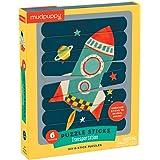 Mudpuppy Transportation Puzzle Sticks – Great for Kids Ages 3-6 - Six Transportation Themed 8-Piece Stick Puzzles – Arrange Sticks to Reveal Image – Work on Sorting, Problem-Solving – Unique Puzzle