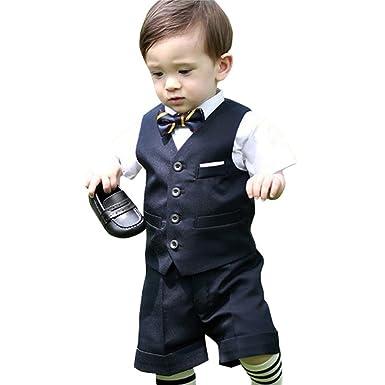 c148d465bc12c  ノーブランド品 子供 スーツ 男の子 キッズ ベビー フォーマルスーツ 半袖 結婚式 七五三