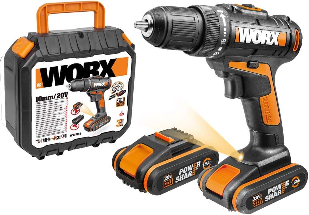 Worx WX101.1 Taladro Atornillador 20V 1.5Ah 2bat