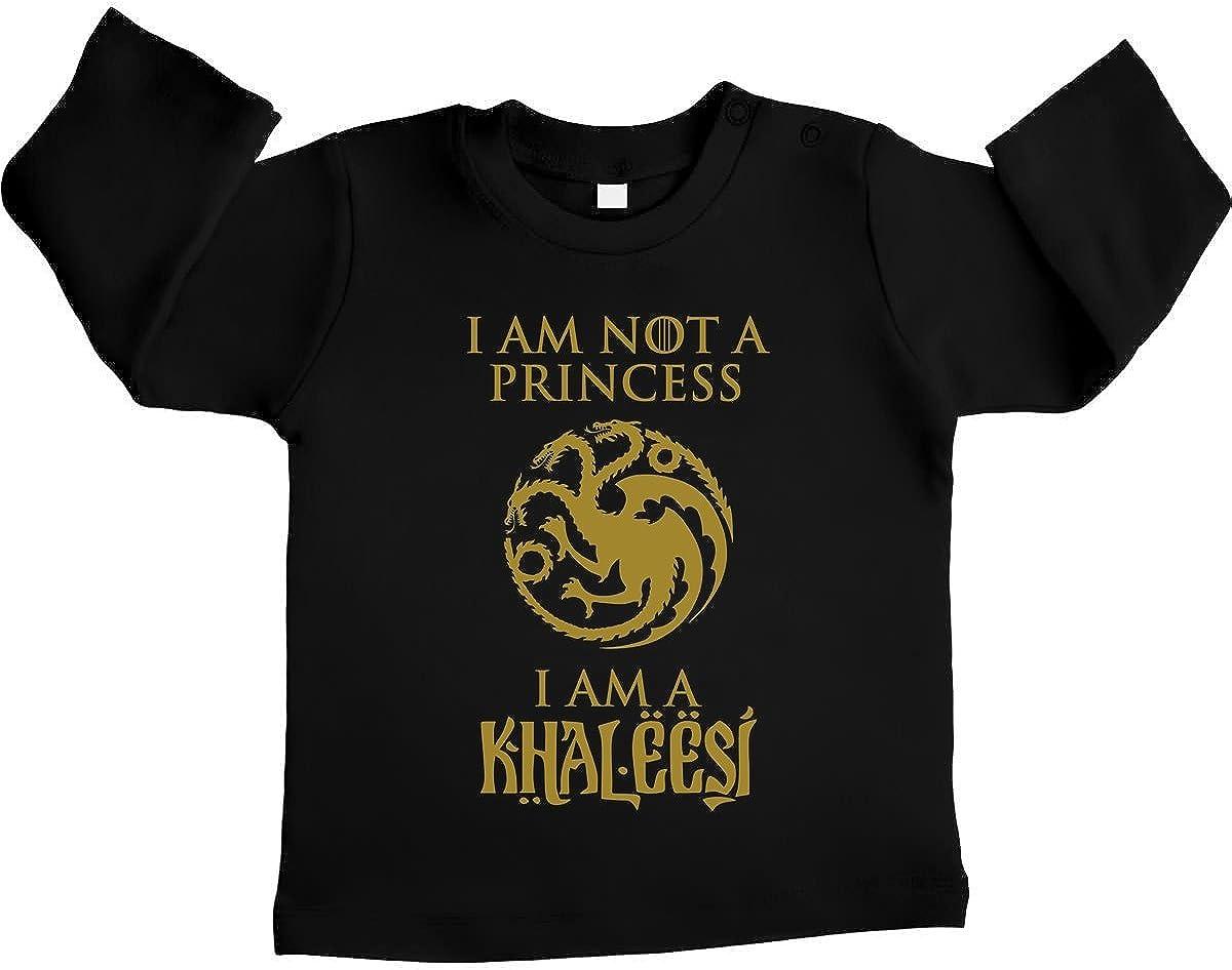 Regalo per Piccole Fans Maglietta Neonato Unisex Shirtgeil Sono Khaleesi Regina dei Draghi