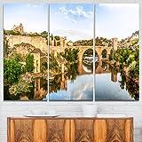 Designart PT7055-40-20 Toledo Bridge In Spain Landscape Photo Canvas Print