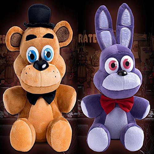 2pcs FNAF Five Nights at Freddy's Sanshee Bonnie Rabbit & FREDDY Plush Toys Doll (Sucker Punch Pokemon)