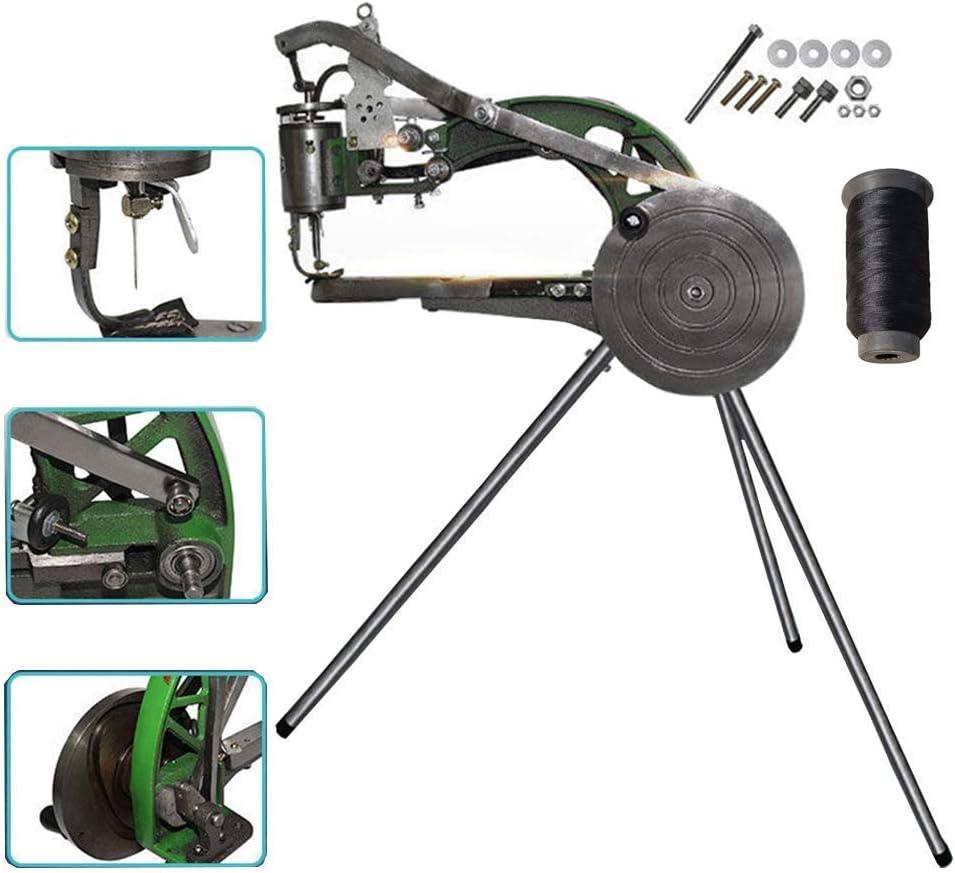 TOPQSC Zapato de la máquina de coser de la mano de la máquina de coser a mano nylon de algodón dual para herramientas zapatos, impermeables, cuero: Amazon.es: Hogar
