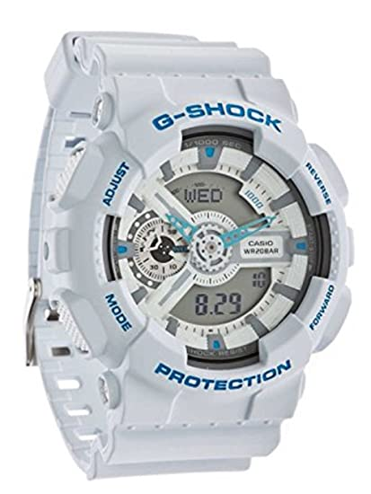 9f2562c354d9 Casio CASIO G - Shock G Shocky Shock Watch Men GA - 110 SN - 7 White   Amazon.ca  Watches