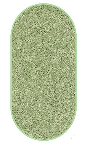 Koeckritz 3 x5 Oval Area Rug. Light Green
