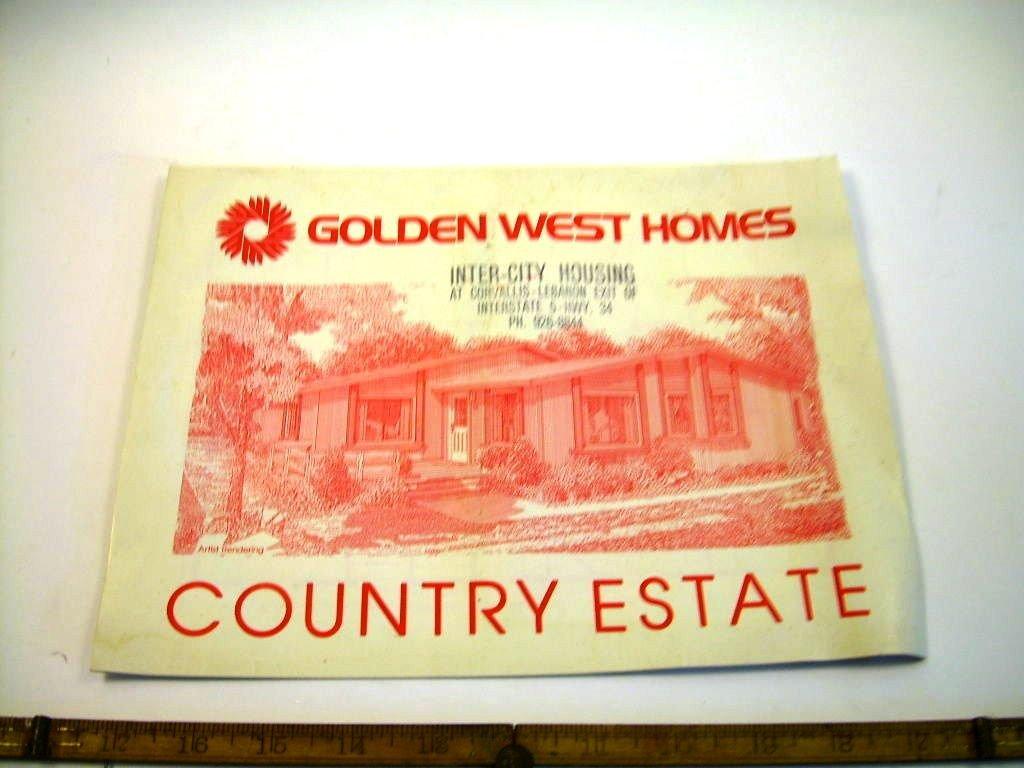 Golden West Homes >> Vintage Sales Catalogue Golden West Homes Country Estates
