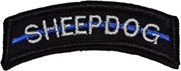 LARGE Sheepdog Thin Blue Line Tab Patch