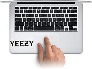 WallDecalArtStudio Yeezy Vinyl Stickers Laptop Decals for MacBook, Tablets Water Bottle Cup Decals, Waterproof Car Bumper Stickers Made in US (Message for Color)