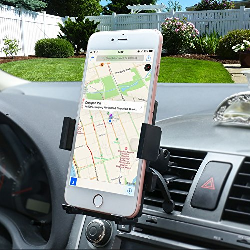 Gright Car Mount, Univeral Cell Phone Car Phone Mount Holder Cradle for iPhone 7/6S/6/5S/7 Plus, Samsung Galaxy S8 S7 Edge S6 S5 Note 5/4,Nexus,HTC,LG,Sony More Smartphone&GPS (Galaxy Note 4 Car Mount)
