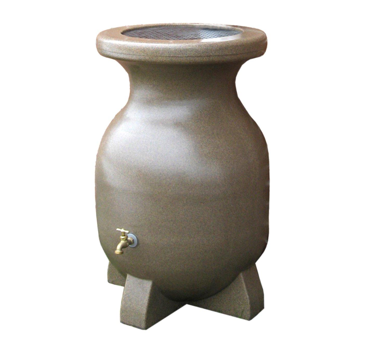 Koolatron RBSS-55 55-Gallon Rain Barrel with Sandstone Finish
