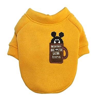 zolimx® Perros Accesorios Ropa, Ropa para Mascotas Cachorro Cuello Redondo Camisa Linda Perros Ropa Pequeña Otoño y Invierno: Amazon.es: Ropa y accesorios